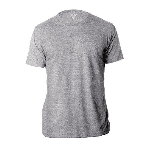 (Banana Republic Men's Crew Neck Premium-Wash T Shirts (Grey, Small))