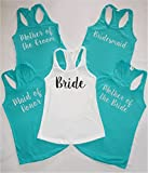 Bride, Bridesmaid, Maid of Honor - Bachelorette Party Shirts, Bridal Party Tank Tops, Bride Tank Bridal Party shirts - Bridal party tanks