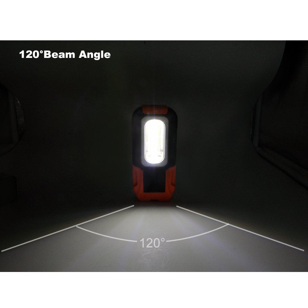 3 Magnétique Lot 3w De Poche Led Portative Puissante Avec Baladeuses Cob Base A Batterie Lampes Ultra Enuotek iOkPXuwZT