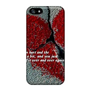 CC WalkingDead Bled Heart Durable Iphone 5/5s Tpu Flexible Soft Case