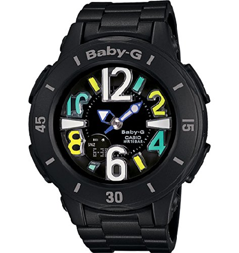 Analog Black Dial Mens Digital (Casio Baby-G Analog-Digital Black Dial Black Resin Strap Mens Watch BGA171-1BCR)