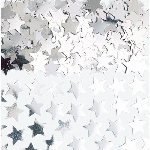 (Silver Mini Stars Confetti | .25 oz. | Party Decor)
