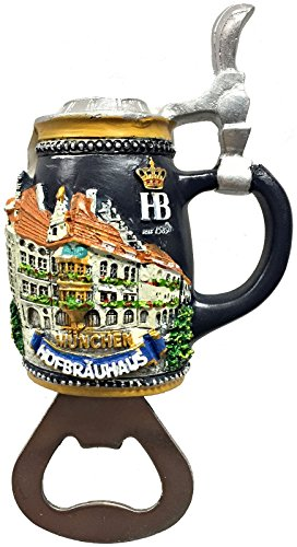 Beer Germany Munich (Hofbrauhaus Munchen Magnetic Beer Bottle Opener Munich Germany Oktoberfest)