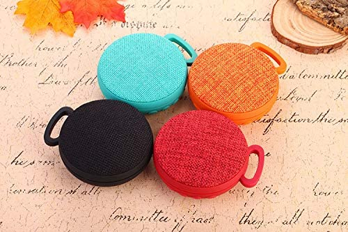 RONSHIN Portable Bluetooth Speakers,Unique Chic Circular Fabric Art Speaker Wireless Bluetooth Portable Hook Subwoofer Blue