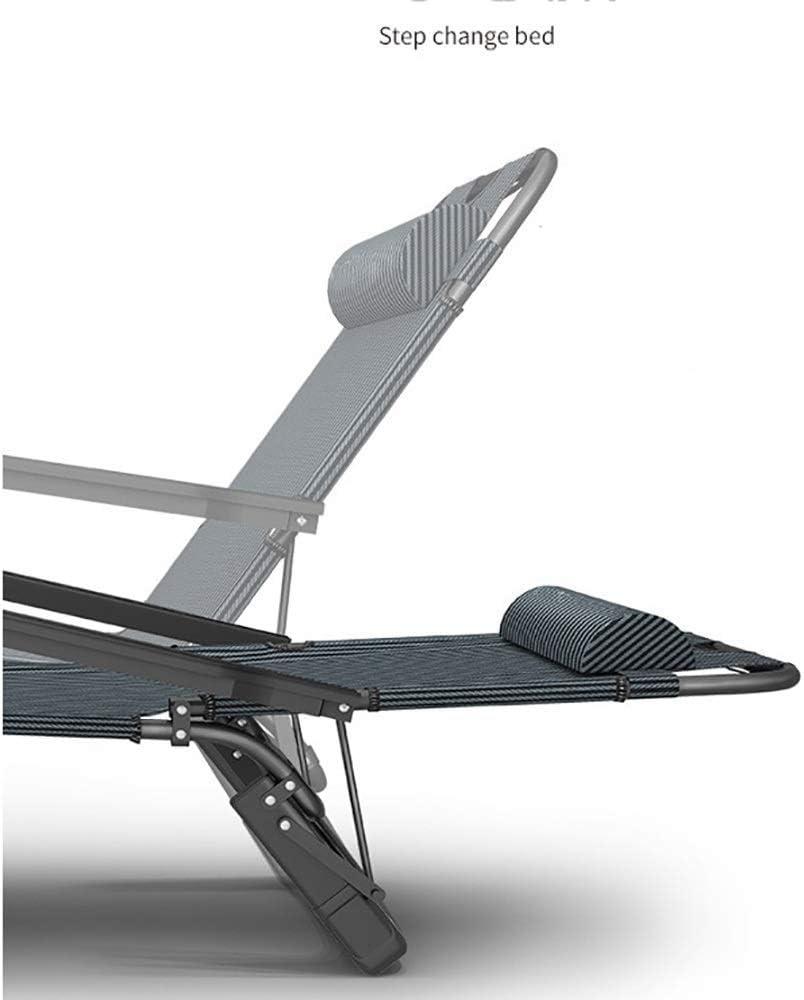 AA-SS Folding Chair Garden Deck Chair Office Lunch Rest Portable Camping Chair Outdoor Beach Sun Lounger Weightless Chair Load 200 kg Black