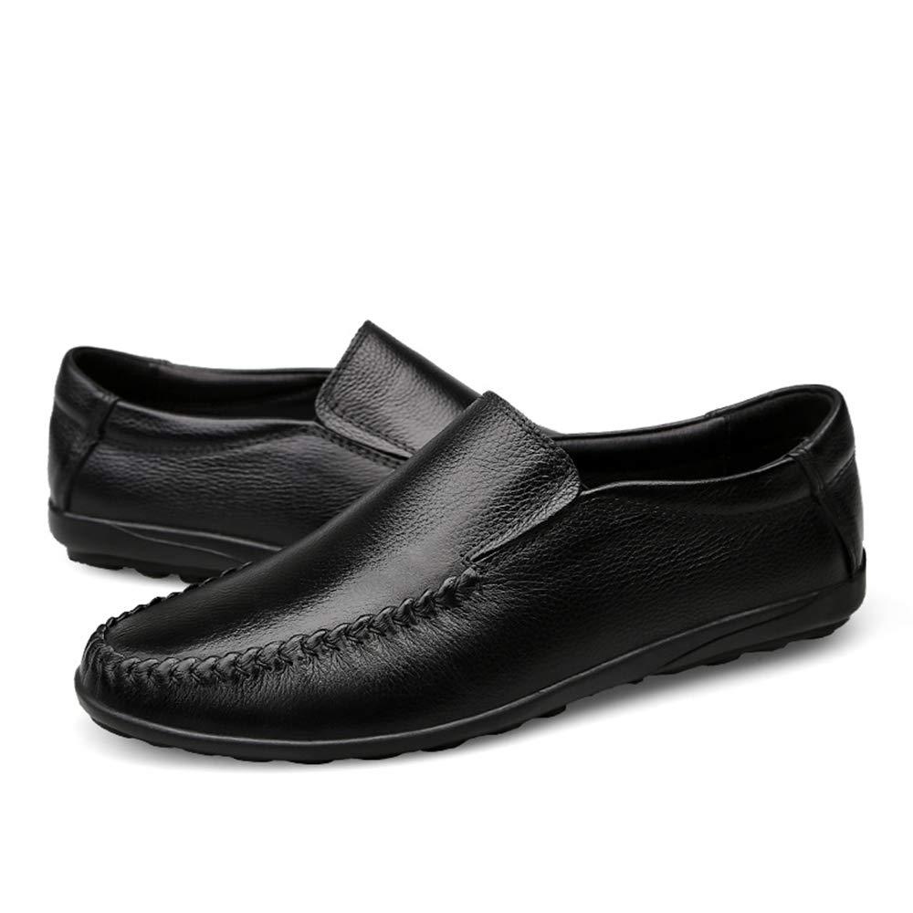 Männer, die Müßiggänger Müßiggänger Müßiggänger antreiben Lässiger Leichter und bequemer Slip-On-Winter-Fleece-Innenschuh mit hohem Oberteil (konventionell optional),Grille Schuhe (Farbe   Warm schwarz, Größe   46 EU)  18a6f5