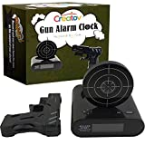 Target Alarm Clock With Gun - Infrared Target and Realistic Loud Sound Effects Fun Laser Pistol Game Clocks for Heavy Sleepers Kids Boys & Girls Infrared 0.8 MW Black Color by Creatov