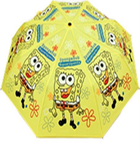 TBSHOP Children's Practical Cartoon Cute Folding Umbrella (SpongeBob SquarePants) (Spongebob Umbrella)