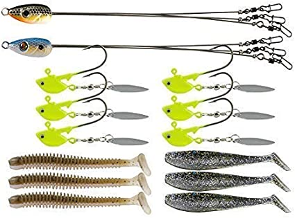Ilure Alabama Rig Umbrella Kit with 5 arm 3 for Salwater Stripers Bass Fishin...