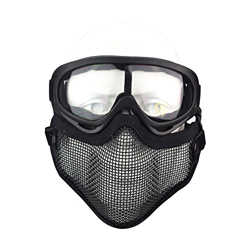 Back To Search Resultshome Airsoft & Paintball Sports Cs Pro Full Face Mask With Safety Metal Mesh Goggles Protection Easy To Lubricate