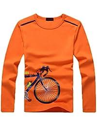 Boys Long Sleeve Shirt - Boys Long Sleeve t Shirt,Cotton T Shirt for Boys 5-12 Years,4 Colors to Choose