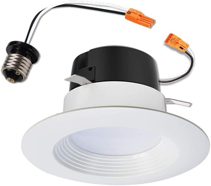"Halo LT460WH6927R LT Integrated Ceiling Light Retrofit 2700K Warm White 4"" LED Recessed Trim, 4 Inch"