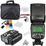 Fomito Godox TT685O TTL 2.4GHz Wireless Master/External AutoFlash Speedlite &X1T-O Transmitter Trigger HSS for Olympus/Panasonic Cameras