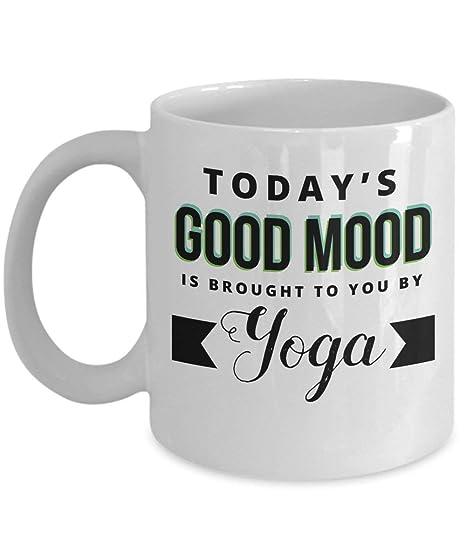 Yogi Mug Good Mood is Brought to You by Yoga Coffee Mug ...