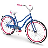 26'' Huffy Fairmont Womens Cruiser Bike, Blue, Perfect Fit Frame