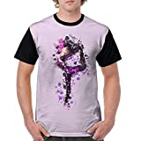 Pink Ballet Dancers and Butterflies Mens Hip Hop Blend 3D Print Tee