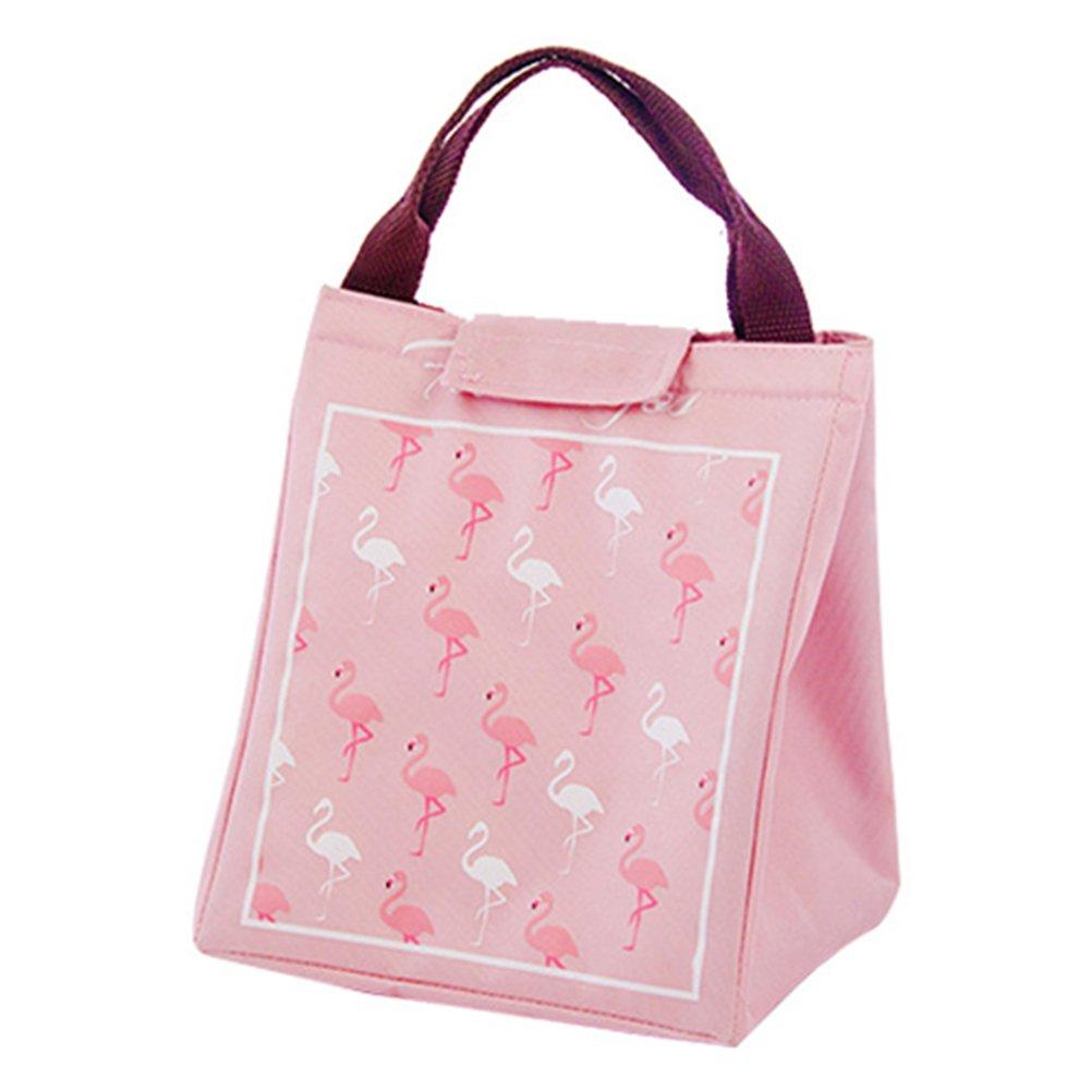 Milnut isolamento termico lunch bag picnic sacchetto pieghevole portatile sacchetto impermeabile pranzo packet, Beige -a, 20cm*17cm*23.5cm