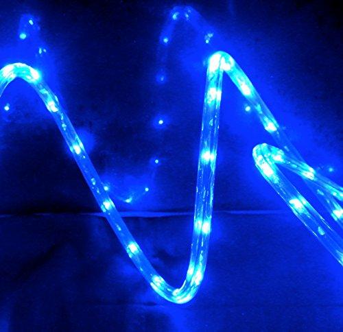 izzy creation 18ft blue led flexible rope light kit indoor outdoor new. Black Bedroom Furniture Sets. Home Design Ideas