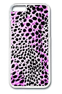 Brian114 Pink Leopard Grain Design Of Individual Character Vogue Phone Case for the iPhone 6 Plus Clear by lolosakes