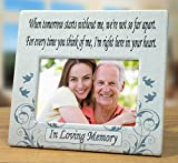 When Tomorrow Starts Without Me Ceramic Memorial Picture Frame - Beautiful Tribute to the Loss of a Loved One -- Traditional Design Goes with Any Decor -- Great As a Keepsake Plaque -- Bereavement Gift -- Sympathy -- Condolence -- In Loving Memory Is Printed Below Photo Opening - 8 Inch