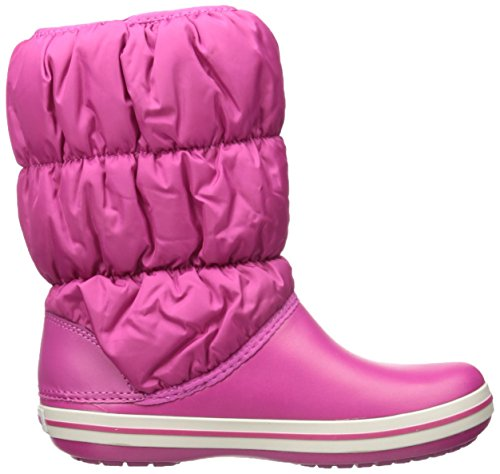 Crocs Winter Puff Boot Wom, Botines para Mujer Rosso (Berry)