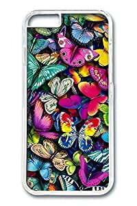 iPhone 6 Plus Case, Protective Slim Hard PC Clear Case Cover for Apple iPhone 6 Plus(5.5 inch)- Butterflies