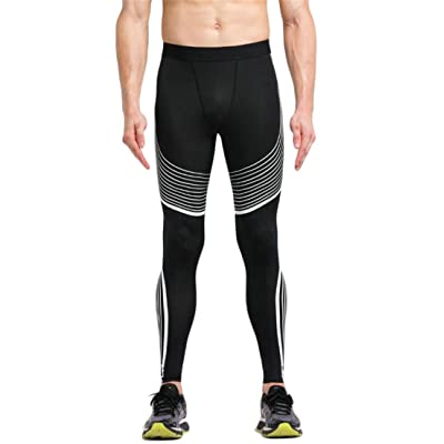 ouxiuli Mens Compression Quick Dry Stretch Fitness Workout Running Sport Leggings Pant