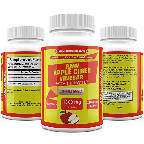 LUSH Supplements raw Apple cider vinegar