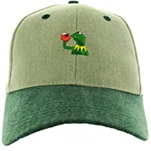 Kermit the frog hat Sipping Tea Embroidered Baseball Cap