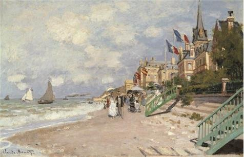 oil-painting-claude-monet-the-sandbeach-at-trouville-1870-24-x-37-inch-61-x-95-cm-on-high-definition