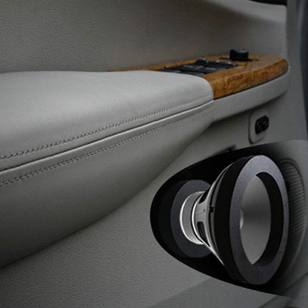 4pcs Black 6.5 Car Door Speaker Enhancer Ring Shock Vibration Absorbing Foam Pad Kit Automotive Accessories