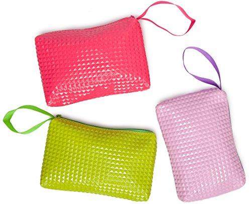 Handbag Organizer Bag Set Of 3 For Travel, Toiletries, Cosmetics, Cables, Gadgets (Candy)
