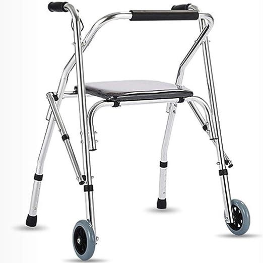 LJMG Andador Andador Anciano Andador Telescópico Plegable para ...