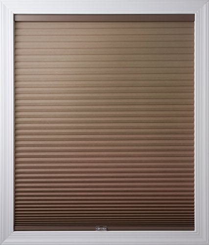 New Age Blinds Light Filtering Inside Frame Mount Cordless Cellular Shade 57-1/2 x 48-Inch Warm Cocoa