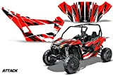 AMRRACING Arctic Cat Wildcat Sport XT Full Custom UTV Graphics Decal Kit Attack Red