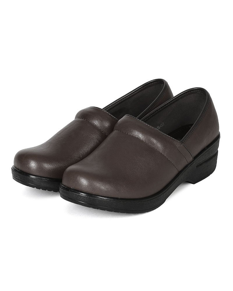 Refresh Women Leatherette Round Toe Slip On Clog BH36 - Brown (Size: 8.5) by Refresh (Image #5)