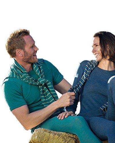 Engel Axil - Camiseta interior de manga corta para hombre y para mujer 100% lana virgen ángel Saphir