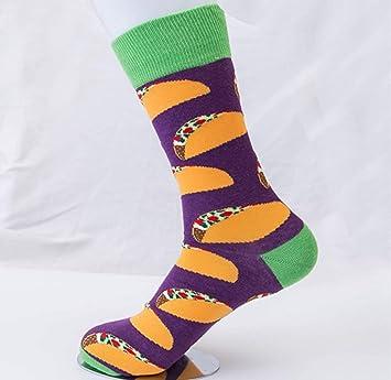 SIKESONG Los Hombres Coloridos Calcetines De Algodón Peinado Patrón Serie Tripulación Ocio Happy Socks Vestido De Fiesta Loca (5 Pares De Calcetines),La ...
