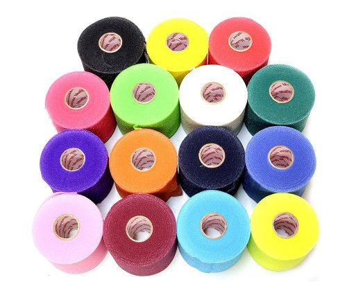 Mueller Underwrap - PreWrap for Athletic Tape/Taping/Head/Hair Bands - Rainbow Assorted Colors - 12/PACK (Underwrap Wrap)