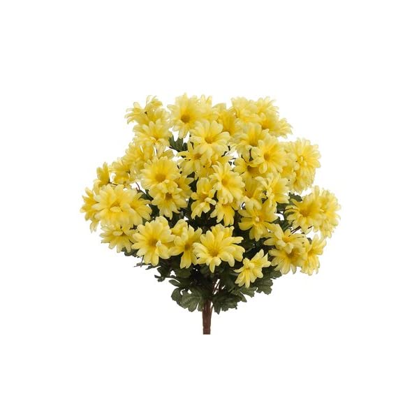 19″ Artificial Daisy Flower Bushe in Yello, with No Pot, (Pack of 3)