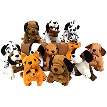 Amazon.com : Dog Assortment - 12 per pack : Plush Animal