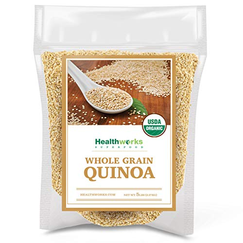 Healthworks Quinoa Organic Whole Grain 5 Pound
