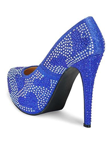 Yepme - Sandalias de vestir de Material Sintético para mujer azul azul