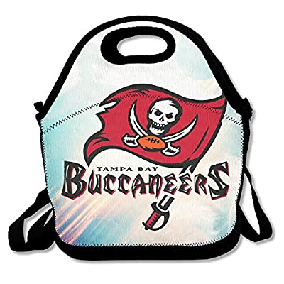 Bakeiy Tampa Bay Pirate Lunch Tote Bag Lunch Box Neoprene Tote For Kids And Adults For Travel And Picnic School