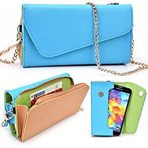 Alcatel One Touch Idol X+ Two Tone Clutch with Shoulder Strap - More Colors Available!