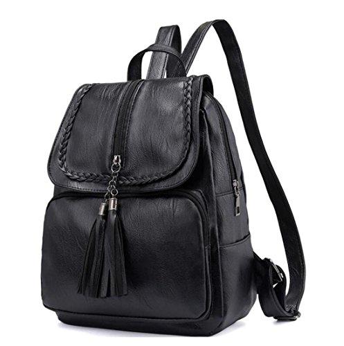 Bags Women Shoulder Travel Daypack Soft Bag for Handbag Fashion Backpack Ladies Casual Black School Girls Leather New 4xB7vnCq7