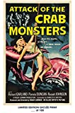 RARE POSTER thick ATTACK OF THE CRAB MONSTERS movie 1957 hammer REPRINT #'d/100!! 12x18