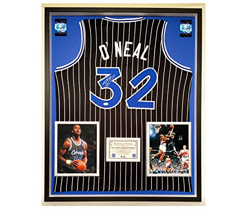7b65575ba Premium Framed Shaquille O Neal Autographed Signed Orlando Magic Jersey -  JSA COA - Shaq Oneal