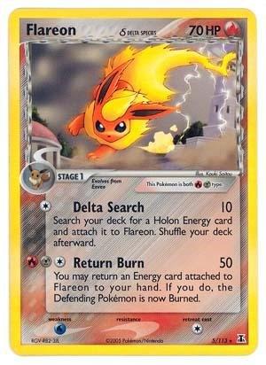 Pokemon - Flareon δ (5) - EX Delta Species - Holofoil