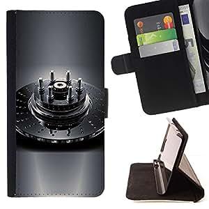 For Samsung Galaxy S6 Case , shpilki disco tormoznoy- la tarjeta de Crédito Slots PU Funda de cuero Monedero caso cubierta de piel